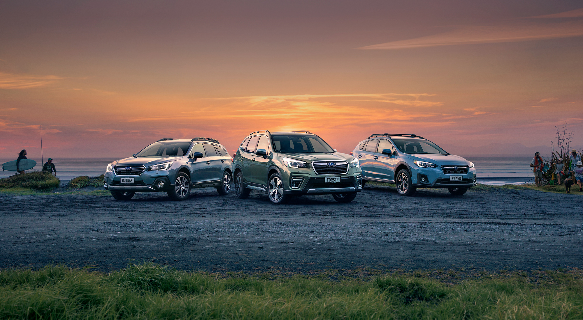 The Subaru SUV range