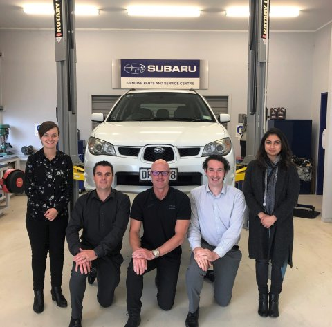 Subaru of New Zealand Service Department receives Certificate of Appreciation from Subaru Corporation, Japan