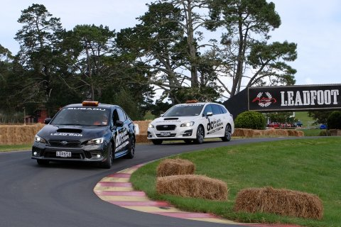Subaru's pace cars will be back doing their important on-driveway duties at the 2019 Leadfoot Festival.