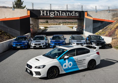Subaru WRXs at Highlands Motorsport Park 2020.