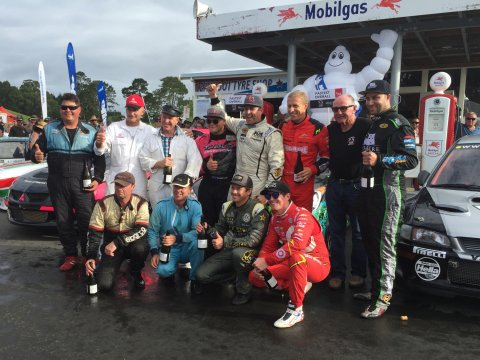 The winners of the Pre-65, Pre-75, Best in Show and Top Ten Shootout classes at the 2016 Leadfoot Festival. PHOTO: SUBARU OF NZ
