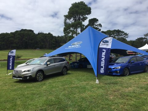 Subaru display at Leadfoot 2016