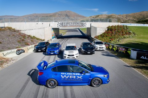 Subaru WRXs at Highlands. Photo credit Highlands Motorsport Park
