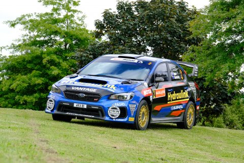 Subaru ambassador Ben Hunt's Subaru WRX STI will debut a fresh new livery at the City of Auckland Rally tomorrow and the Repco Battle of Jacks Ridge on Sunday. Photo: Geoff Ridder.