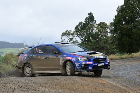 Ben Hunt and co-driver Tony Rawstorn will have a new engine in the Subaru WRX STi for this Sunday's Lone Star Canterbury Rally. PHOTO: KATE RIDDER.