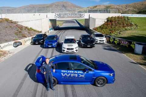 Highlands launches Subaru WRX Experience, professional driver Andrew Waite pictured
