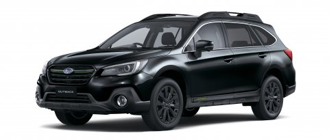 Subaru Outback X in black.