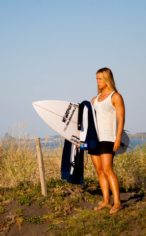 Subaru of New Zealand's Brand Ambassador Paige Hareb.  Photo credit Paul Brunskill - Surf2Surf
