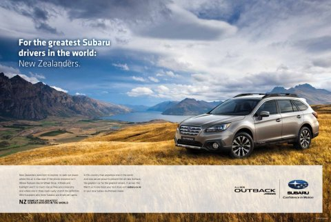 The Subaru Outback Campaign – Print DPS execution