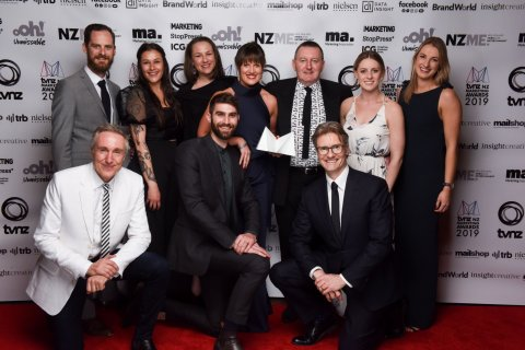 The Subaru of New Zealand and BC&F Dentsu team won the 2019 TVNZ Marketing Award, last night.
