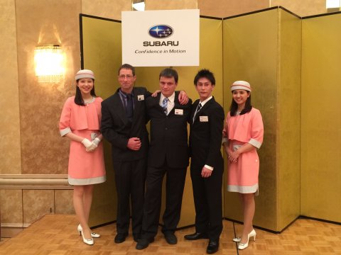 Subaru World Technical Competition winners 2015 with New Zealander Steve Comber (left).