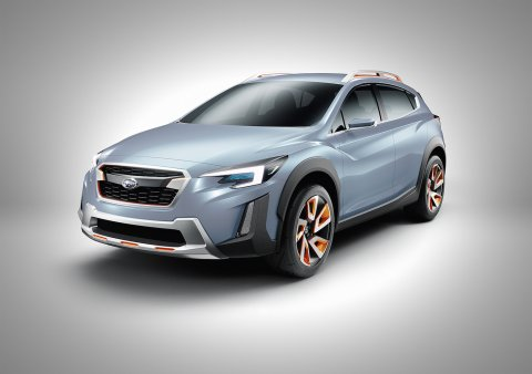 Subaru XV concept, which has been unveiled  at the 2016 Geneva International Motor Show.