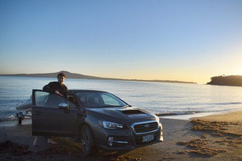 Subaru ambassador Art Green enjoys the versatility of the Subaru Levorg, which can drop a boat off at the beach before work, deliver him to business meetings in the city during the day and then over the Waitakere Ranges for a trail run in the evening.