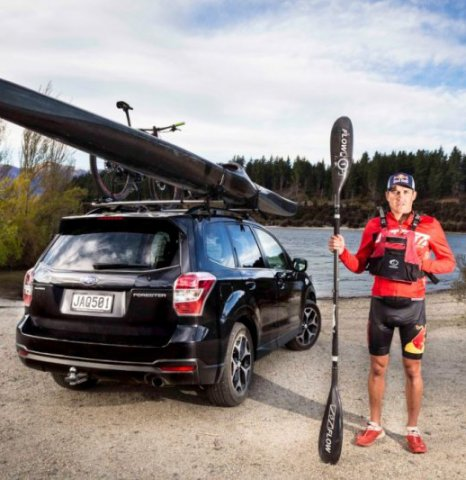 Multisport champion Braden Currie enjoys the space the Subaru Forester offers and the durable SUV's ability to transport all the tools of his trade. PHOTO: BEN READ PHOTOGRPAHY