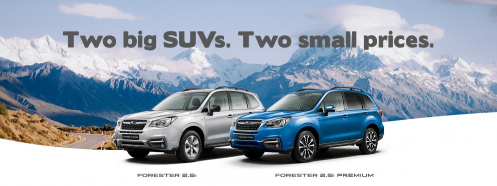 2018 Forester - two big SUVs. two small prices.