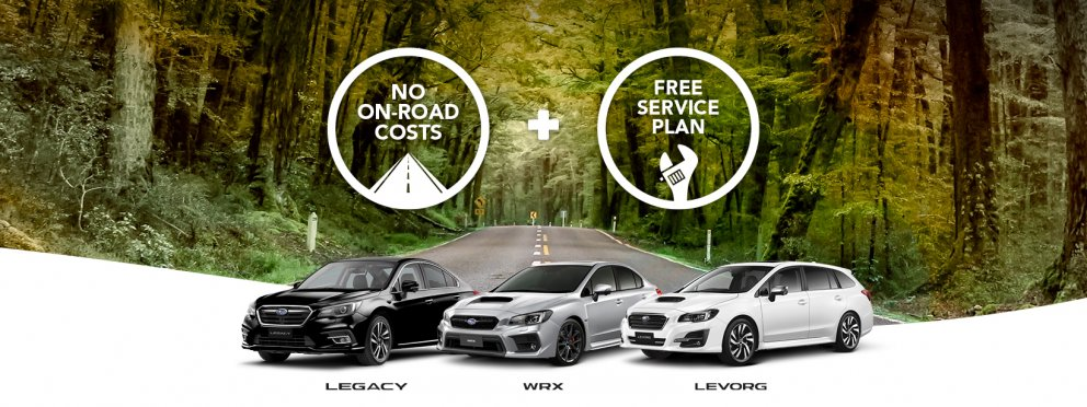 Subaru Legacy, Levorg and WRX offer