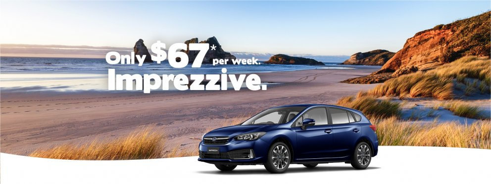 2021 Impreza for only $67 per week