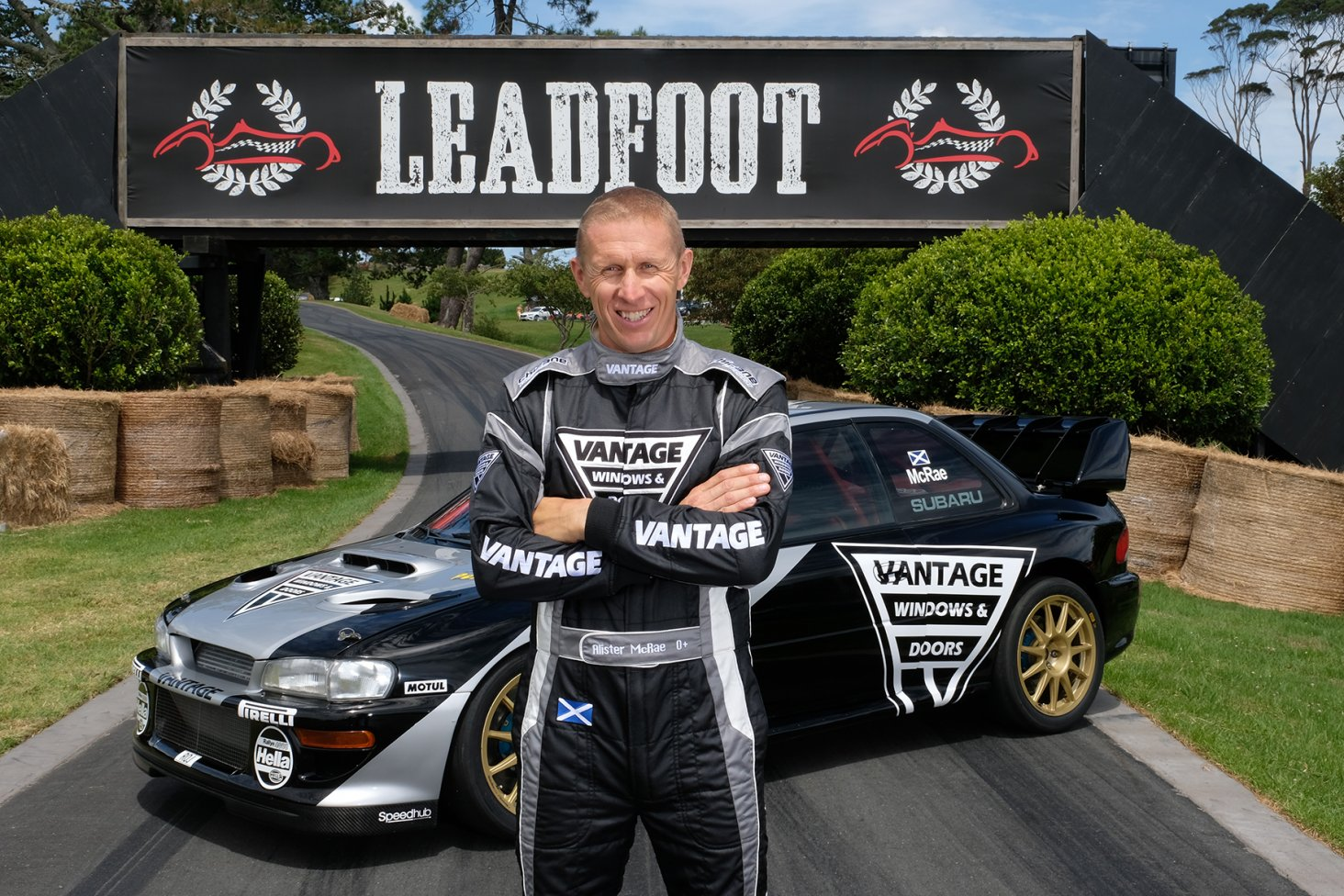 Scottish rally star Alister McRae will be defending his title this year at the Leadfoot Festival.