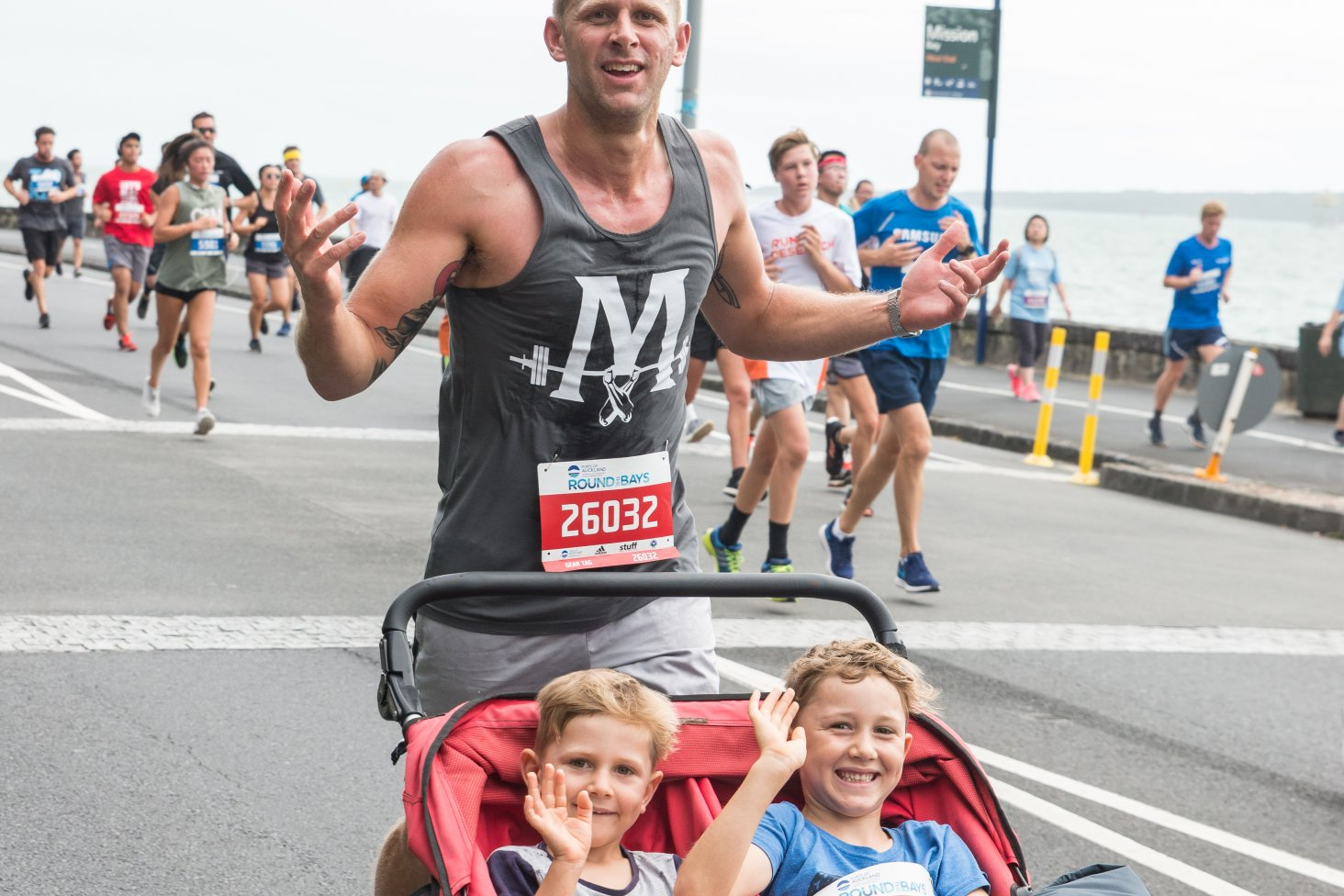 Ports of Auckland Round the Bays welcomes families to participate.