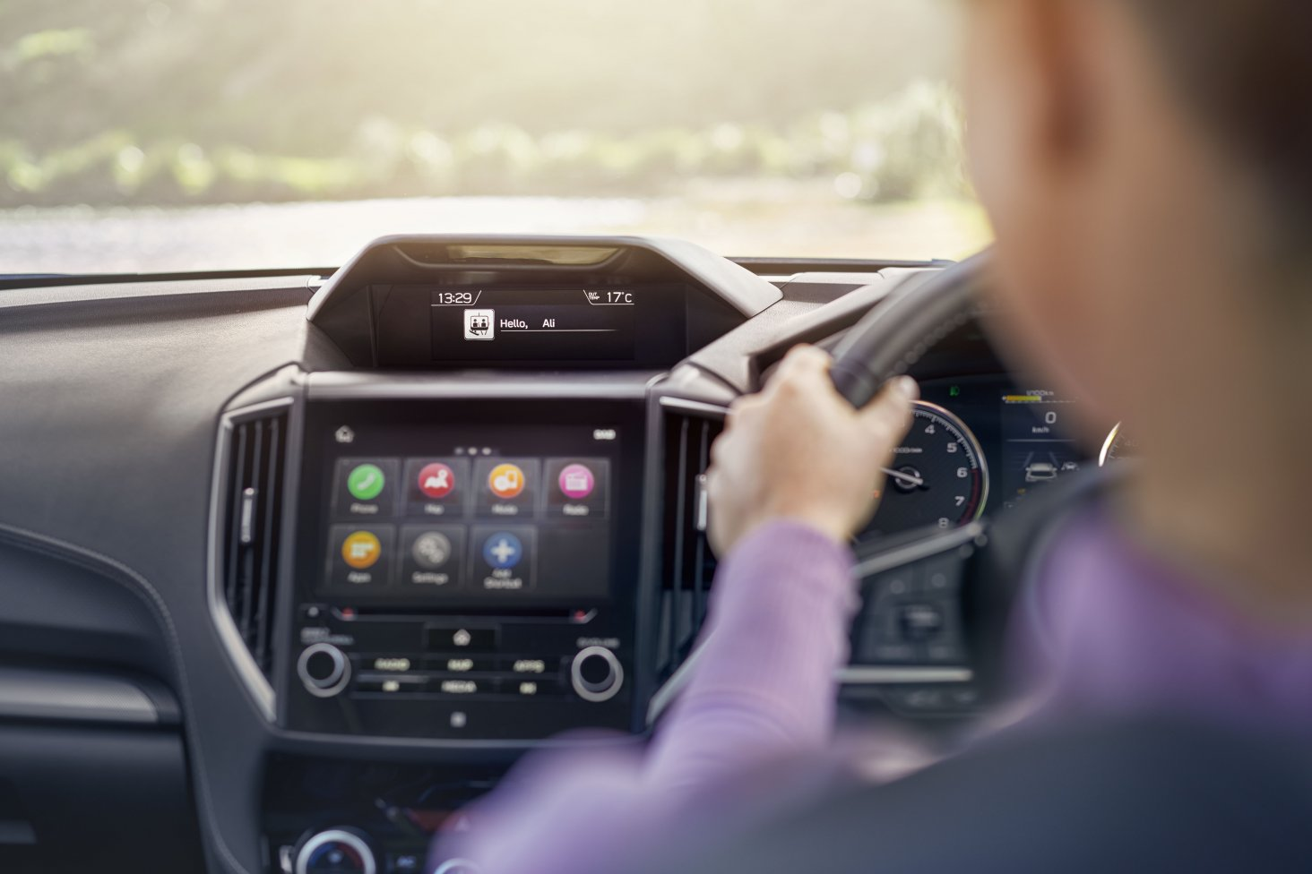 The 2019 Forester's Driver Monitoring System sets driver preferences for seat position, door mirrors, air-conditioning and some instrument displays using facial recognition technology.