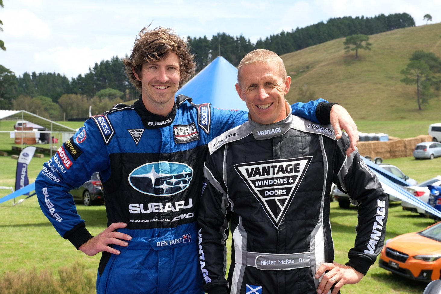 Subaru brand ambassador Ben Hunt and rally legend Alister McRae are both driving Subarus at the 2019 Leadfoot Festival.