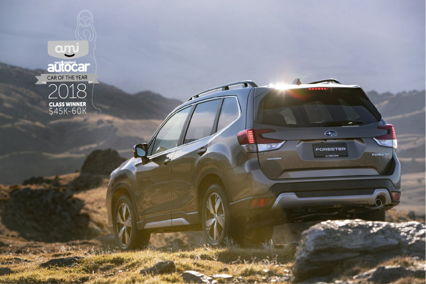 The Subaru Forester Premium has been awarded the AMI NZ Autocar Car of the Year $45-60K category.