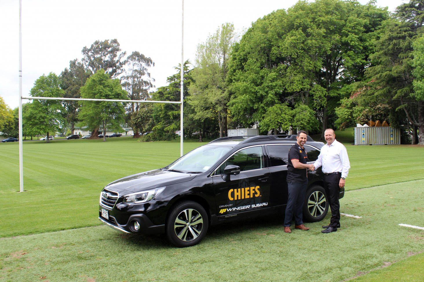 Winger Subaru's Hamilton dealership has become the official vehicle supplier for the Chiefs Rugby Club.