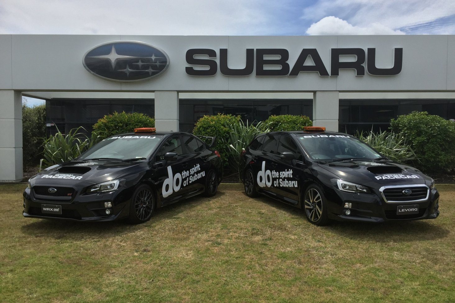 The Subaru pace cars - a WRX STi and a Levorg - will keep the racers in check on Rod Millen's ultimate driveway. PHOTO: SUBARU NEW ZEALAND