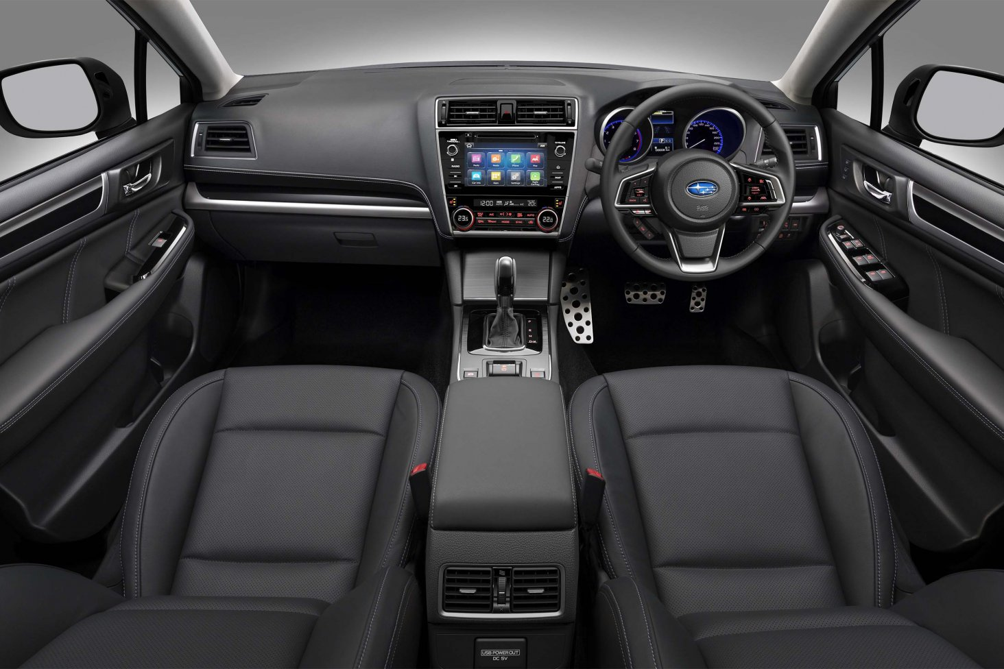 The 2018 Subaru Legacy 3.6RS' interior.