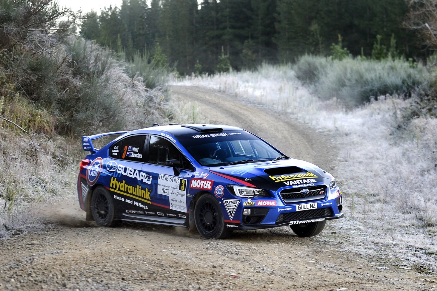 After showing good speed, Ben Hunt and co-driver Tony Rawstorn punctured the radiator in their Subaru WRX STi, forcing them to withdraw from the Joe's Garage/Lone Star Rally Canterbury today. PHOTO CREDIT: GEOFF RIDDER