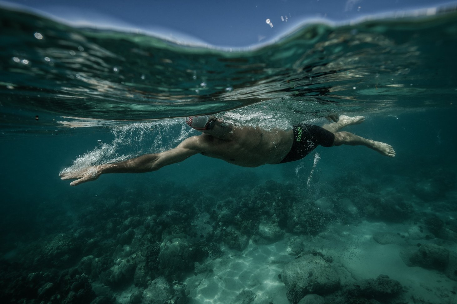 The World Ironman Championships begins with a 3.86km ocean swim course that begins and ends at Kailua Pier. PHOTO: KORUPT VISI