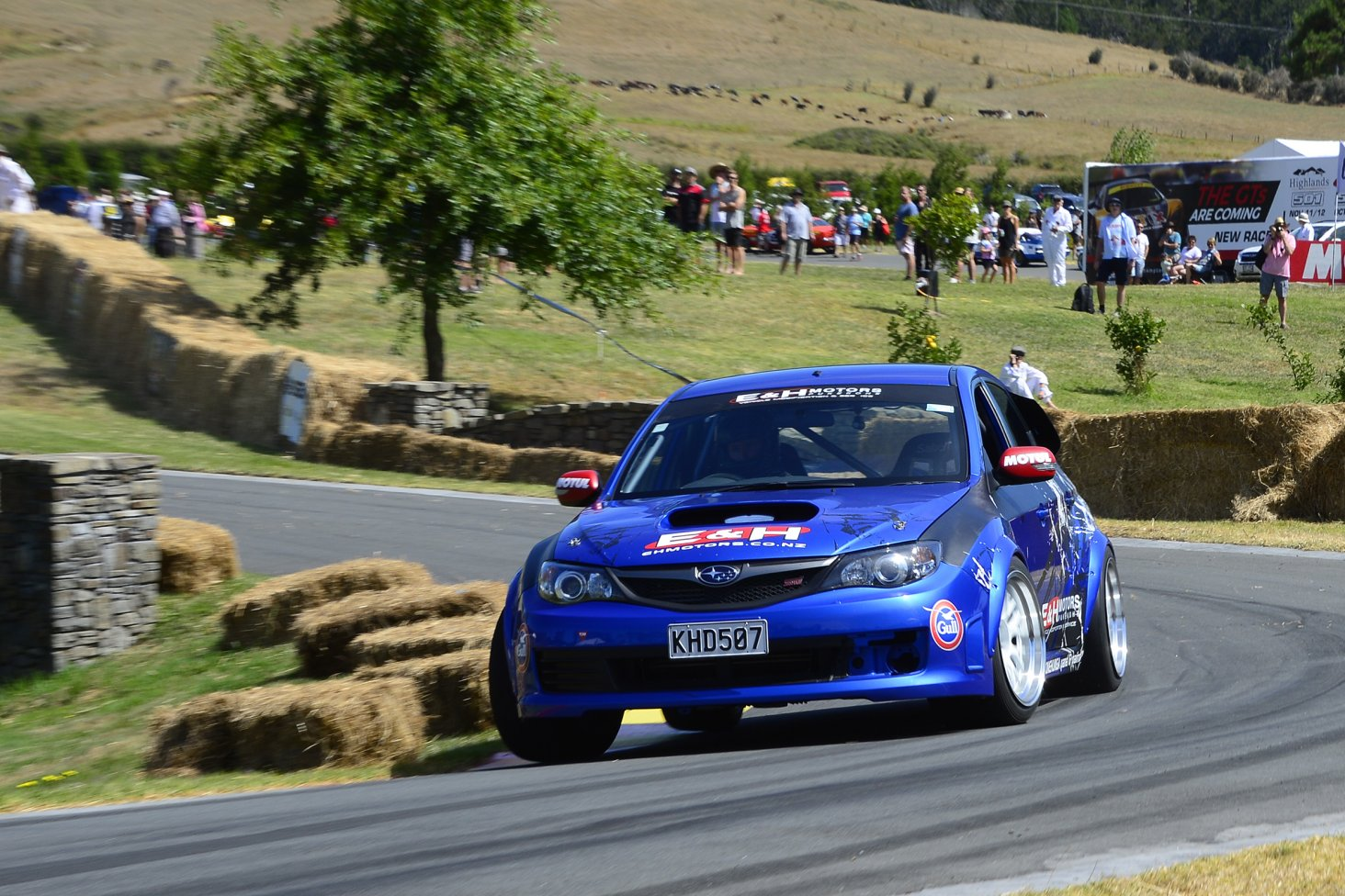 Subaru WRX STi driver Carl Ruiterman on his way to seventh in the Leadfoot Festival's Top Ten Shootout. PHOTO: GEOFF RIDDER.
