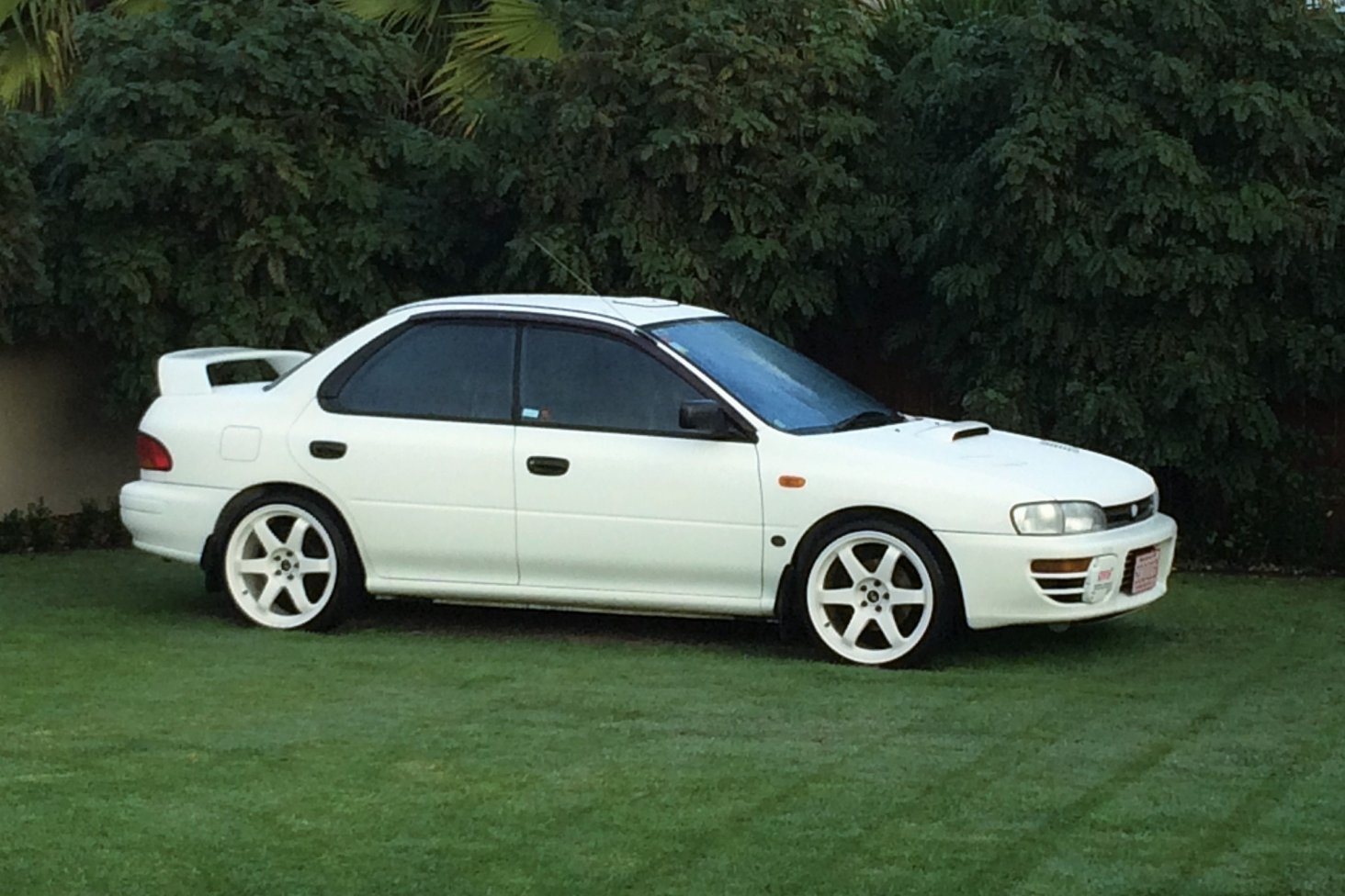 Chris Watt's 1995 Subaru WRX RA is one of the 25 WRX competition winners.