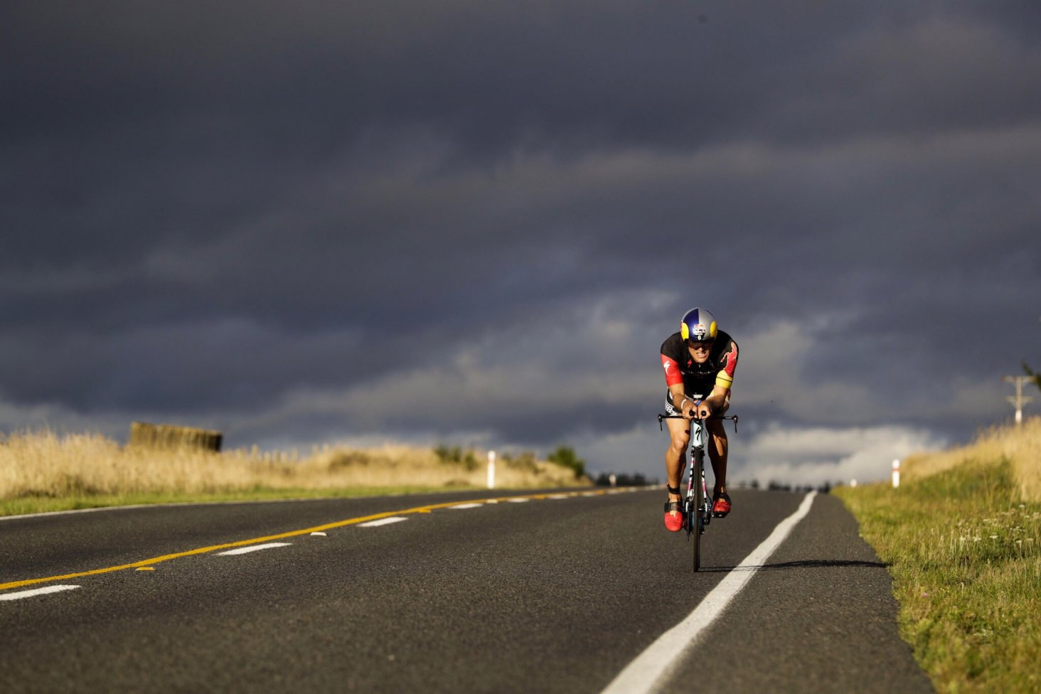 Subaru Brand Ambassador wins IRONMAN New Zealand on his debut effort. PHOTO: GRAEME MURRAY.