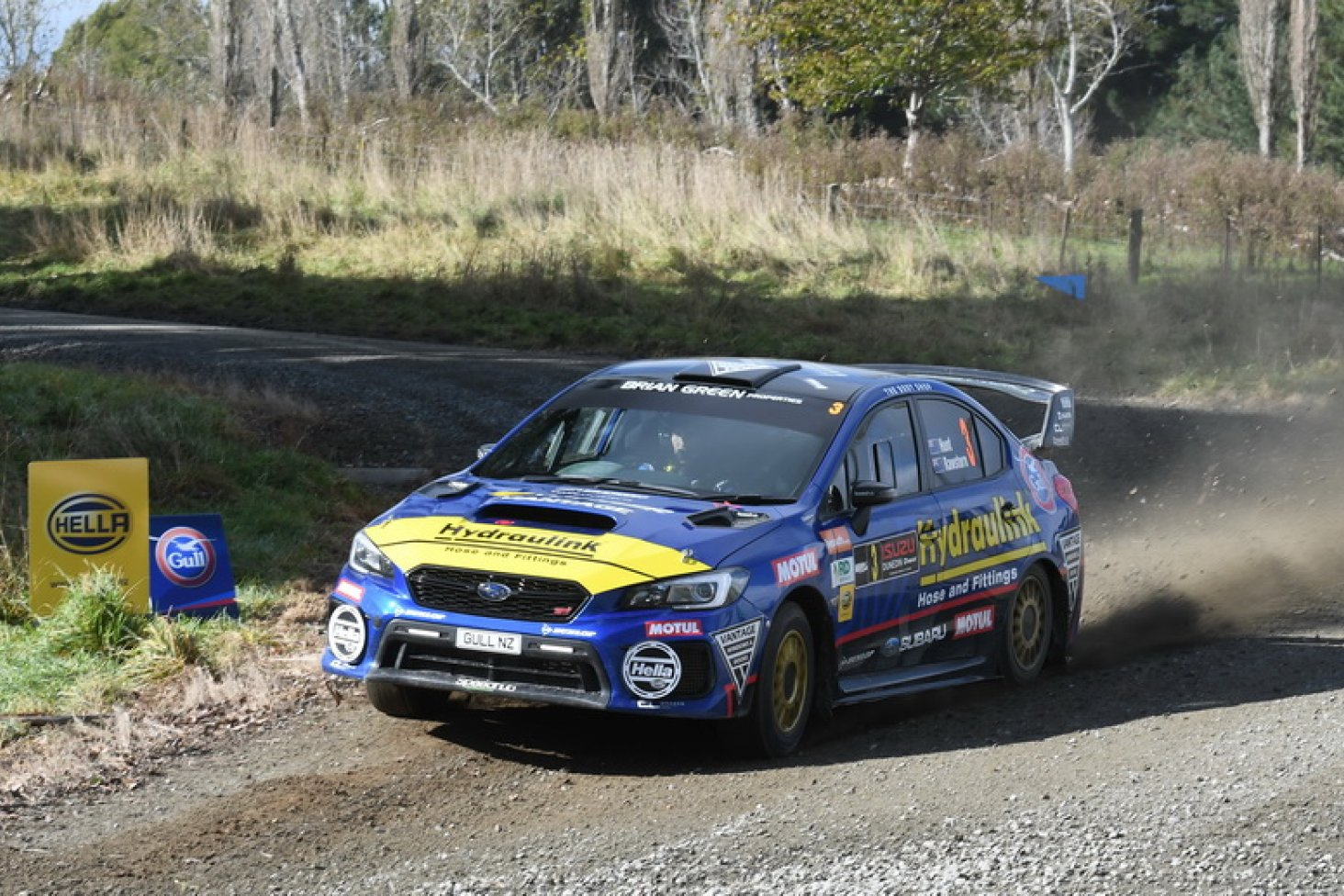 Subaru brand ambassador Ben Hunt and his co-driver Tony Rawstorn had a strong run in the Subaru WRX STi to finish second in the Drivesouth Rally of Otago this weekend. PHOTOS: GEOFF RIDDER