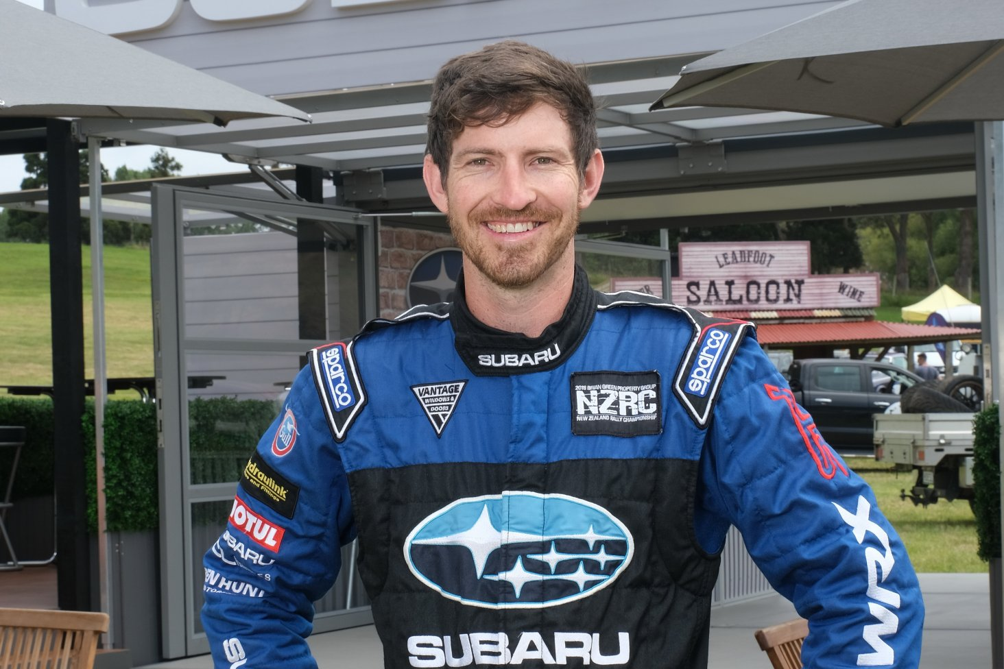 Subaru brand ambassador Ben Hunt is driving his 2004 Subaru WRX STI he built with his dad to do club rallies with at the 2019 Leadfoot Festival.