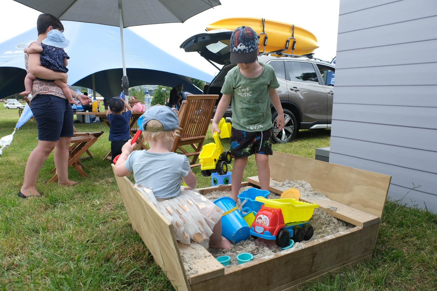 The new Subaru stand was child-friendly. PHOTO: GEOFF RIDDER.