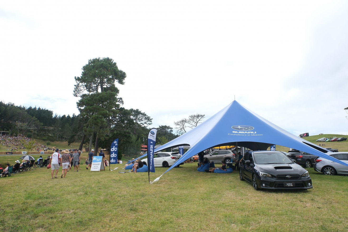 The new Subaru stand has the brand's All-Wheel Drive models on display.