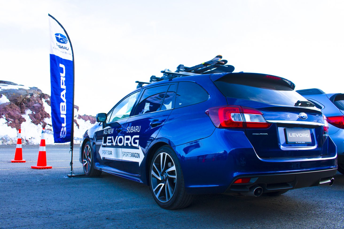 The Subaru Levorg at the 2016 Top Weekend at Turoa.