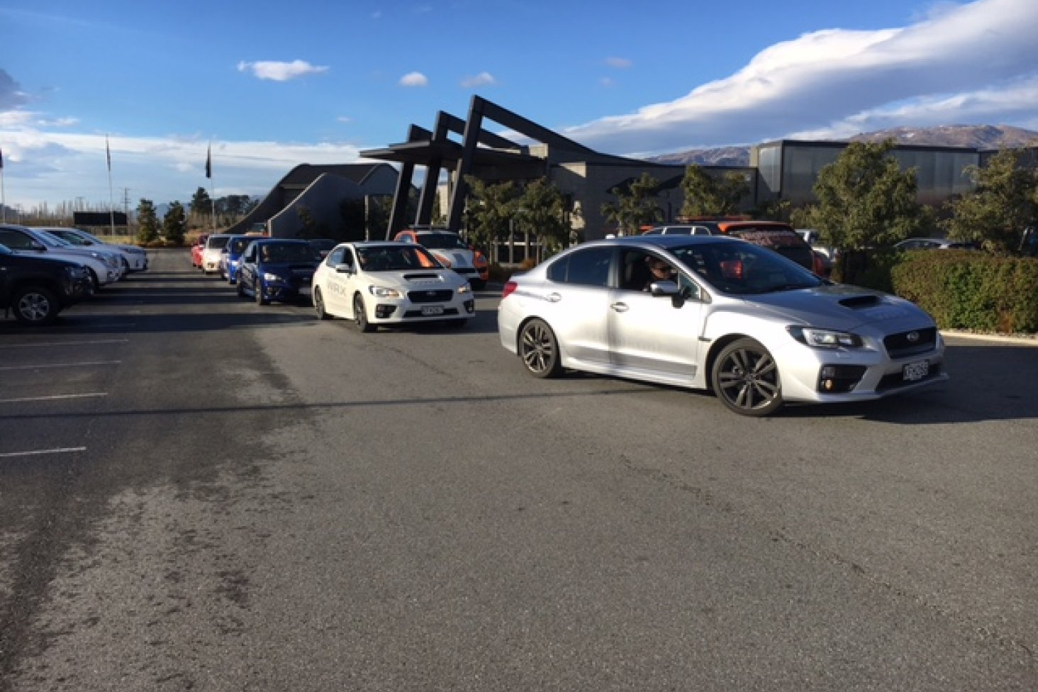 The Mission Impossible 6 cast and crew recently enjoyed a day participating in the Subaru WRX Experience at Highlands Motorsport Park.