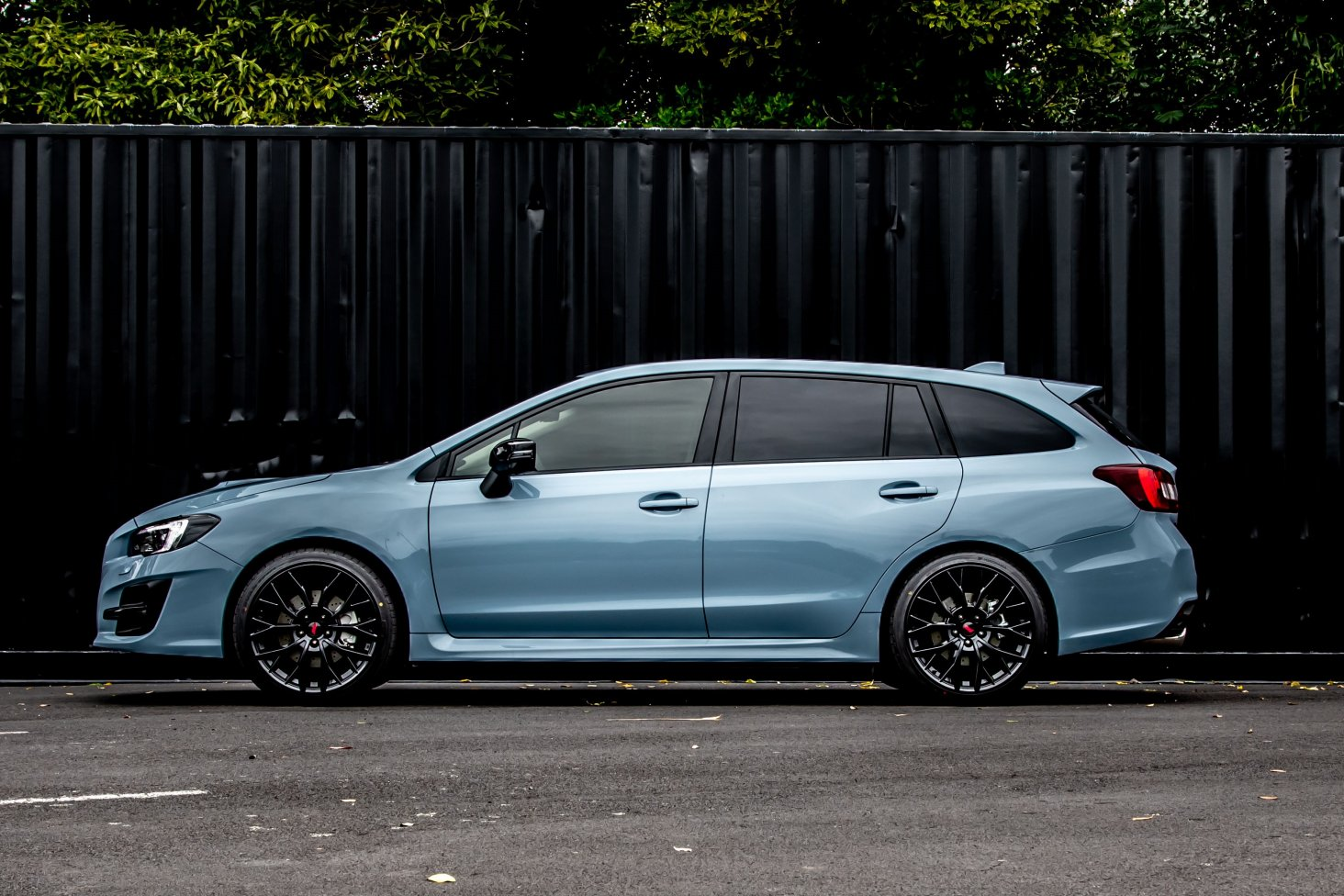 The 2020 Subaru Levorg with STI wheels and blacked out features