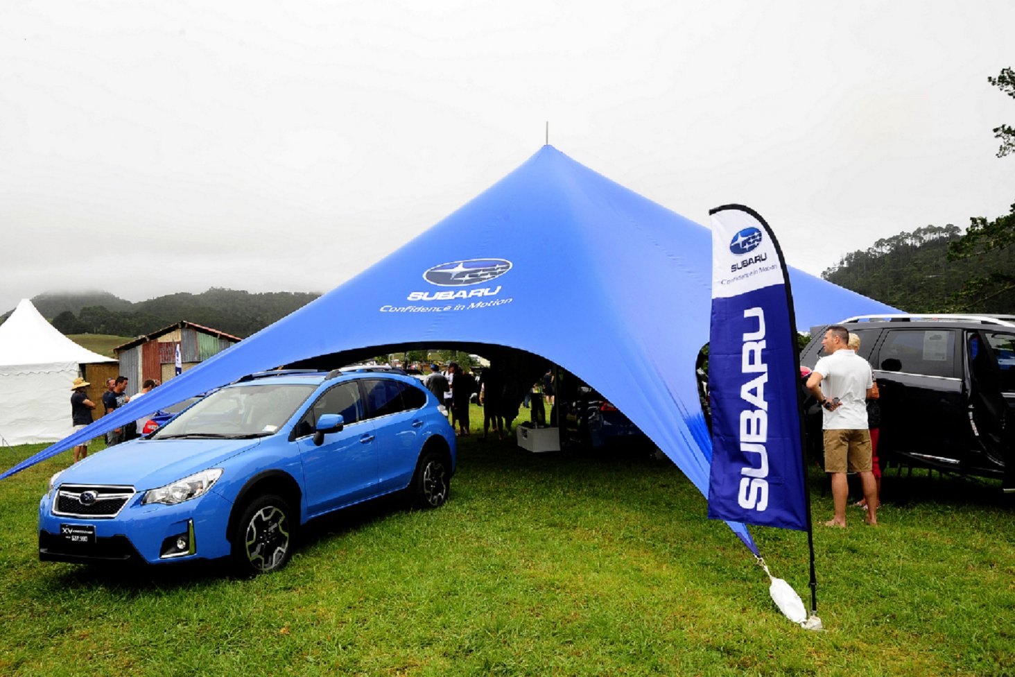 The Subaru tent is the place to see the latest model range and for Subaru drivers to relax in the shade. PHOTO: GEOFF RIDDER