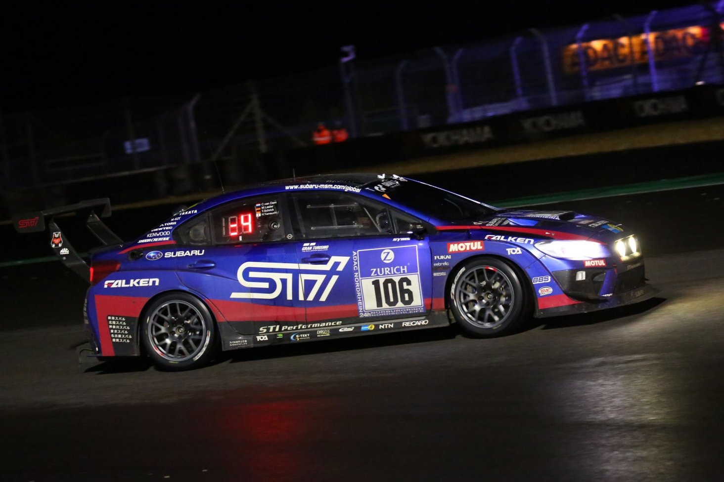 Subaru Tecnica International's (STi) All-Wheel Drive Subaru WRX STi NBR Challenge 2016 racing car, which is based on the mass production WRX STi, took the SP3T class win in the 2016 Nürburgring 24-Hour Race, held in Germany from May 26 to 29.