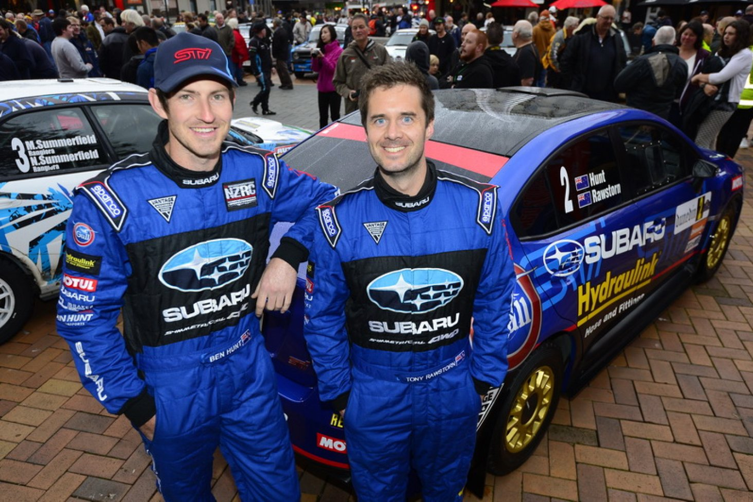 Ben Hunt and co-driver Tony Rawstorn. PHOTO: GEOFF RIDDER.