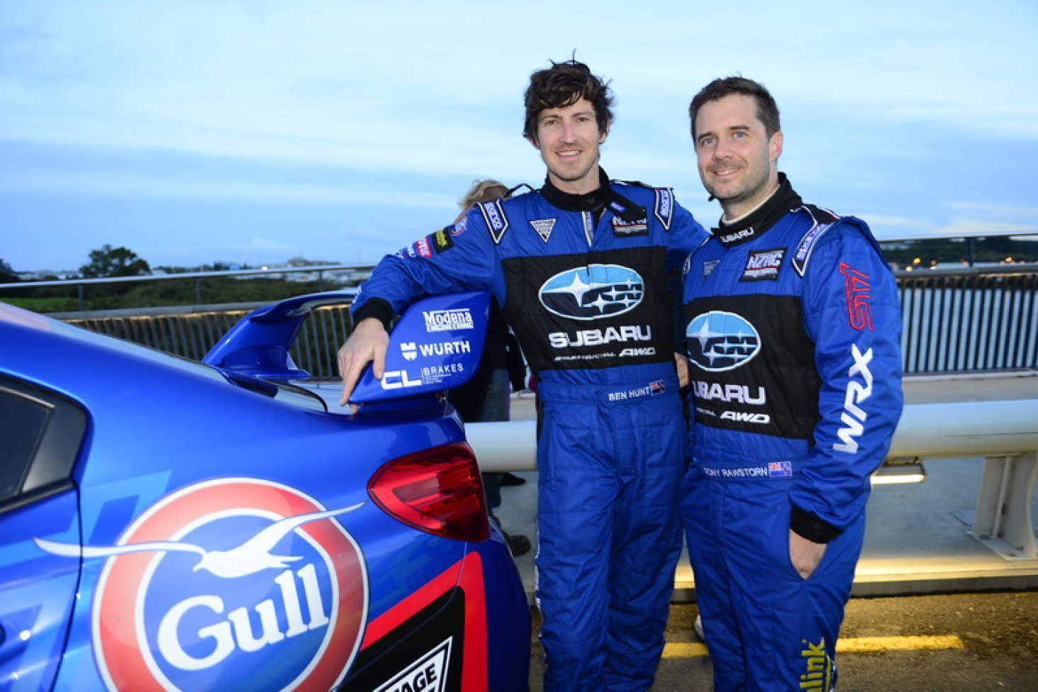 Ben Hunt (left) and co-driver Tony Rawstorn. PHOTO: GEOFF RIDDER.