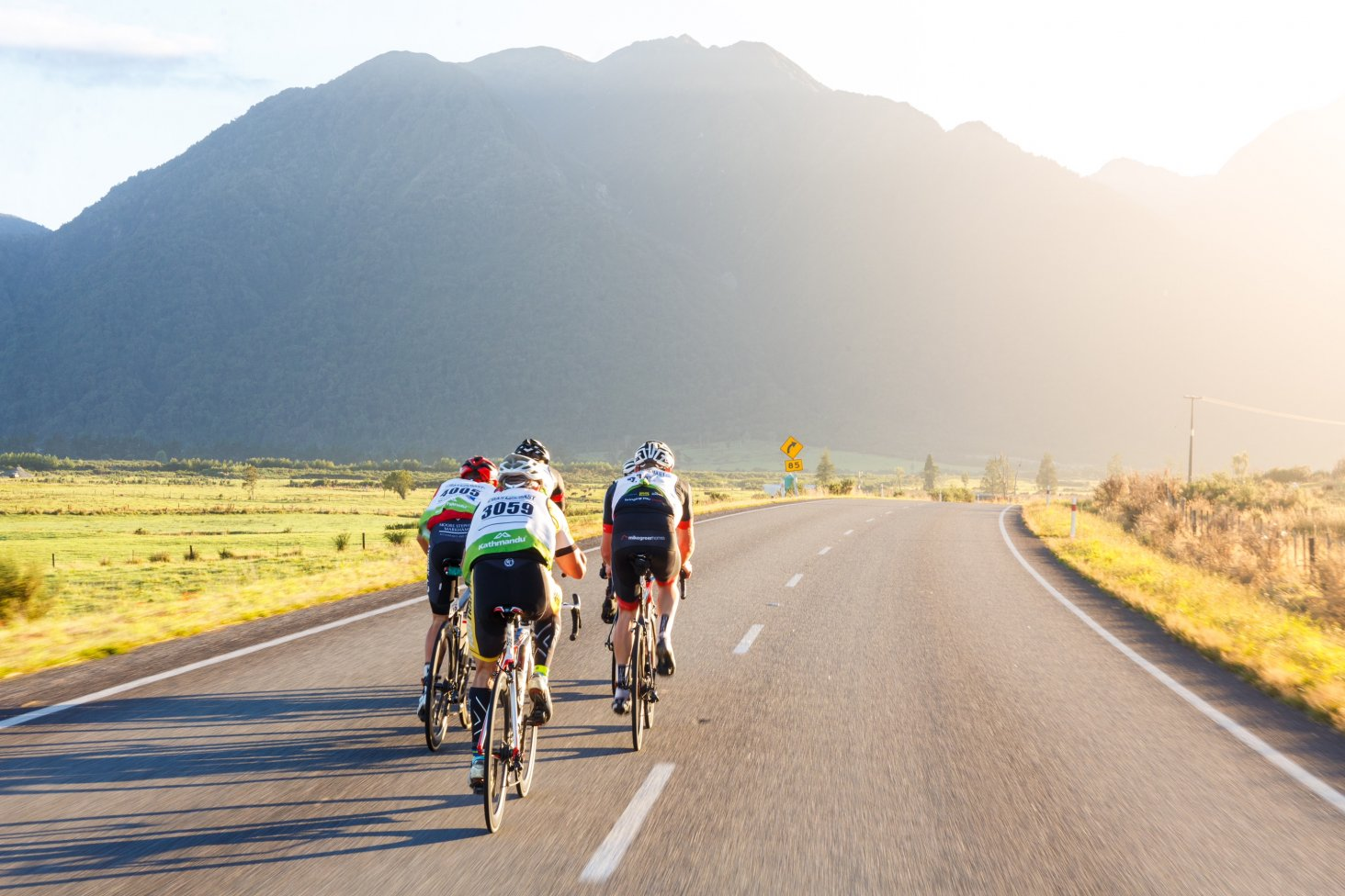 Kathmandu Coast to Coast competitors undertake a cycle leg.