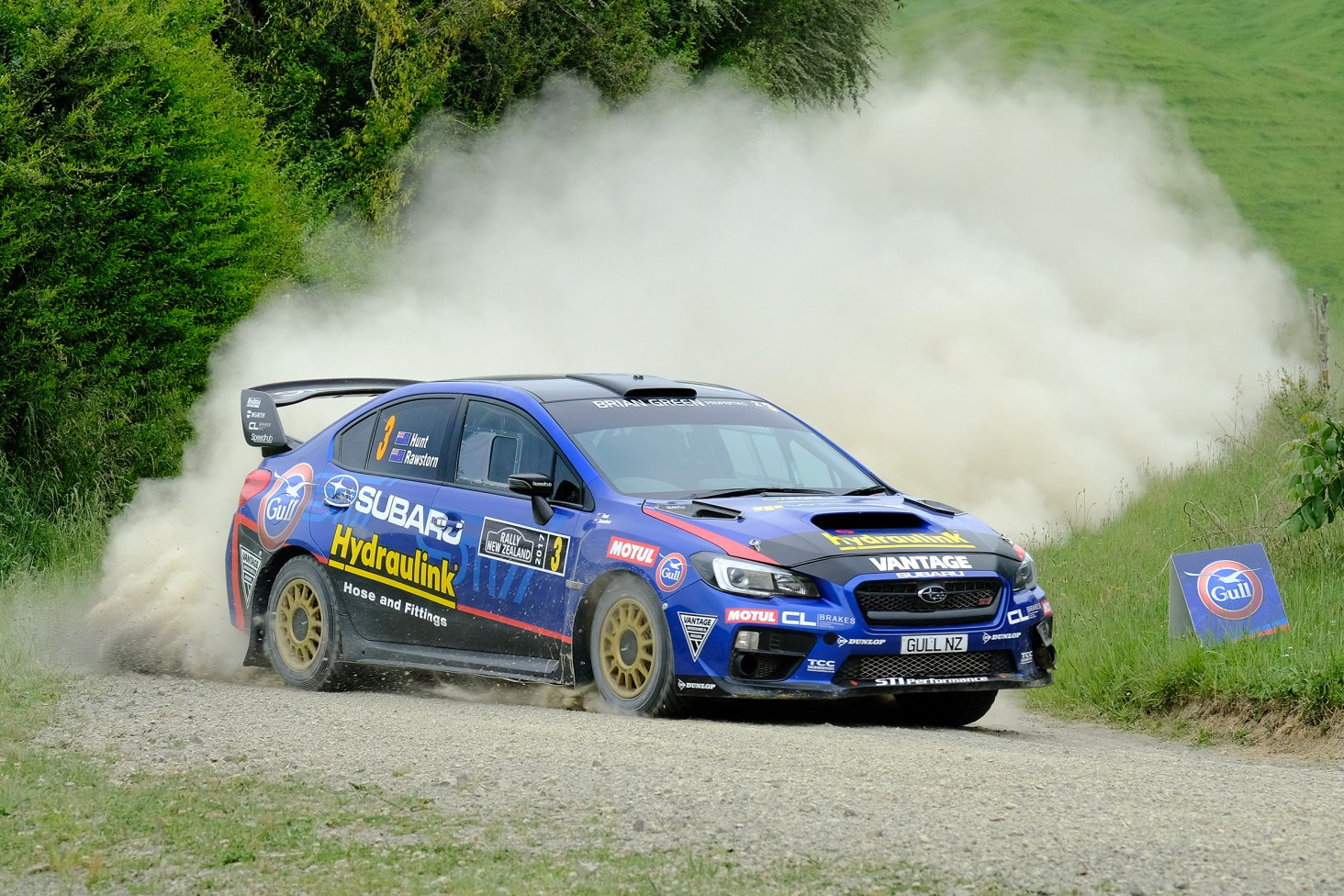 Ben Hunt and Tony Rawstorn helped Subaru win the Manufacturer's Championship in the Subaru WRX STi at the Tauranga-based Rally New Zealand this weekend.  PHOTO: GEOFF RIDDER.