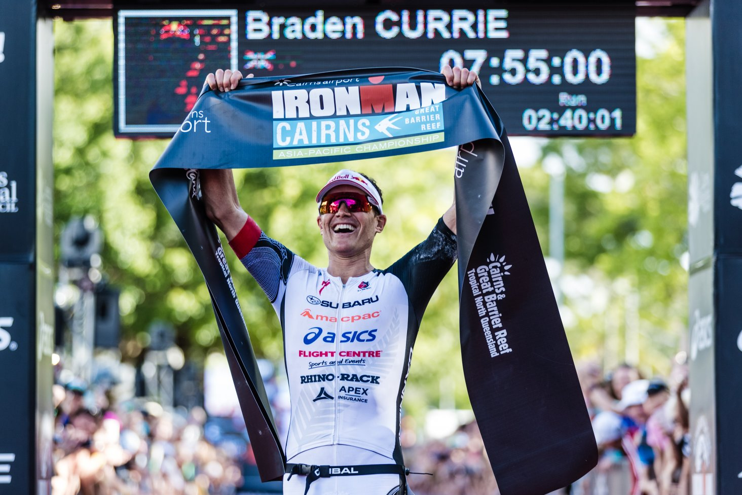 Braden Currie wins Ironman Cairns 2018. Photo Credit Korupt Vision