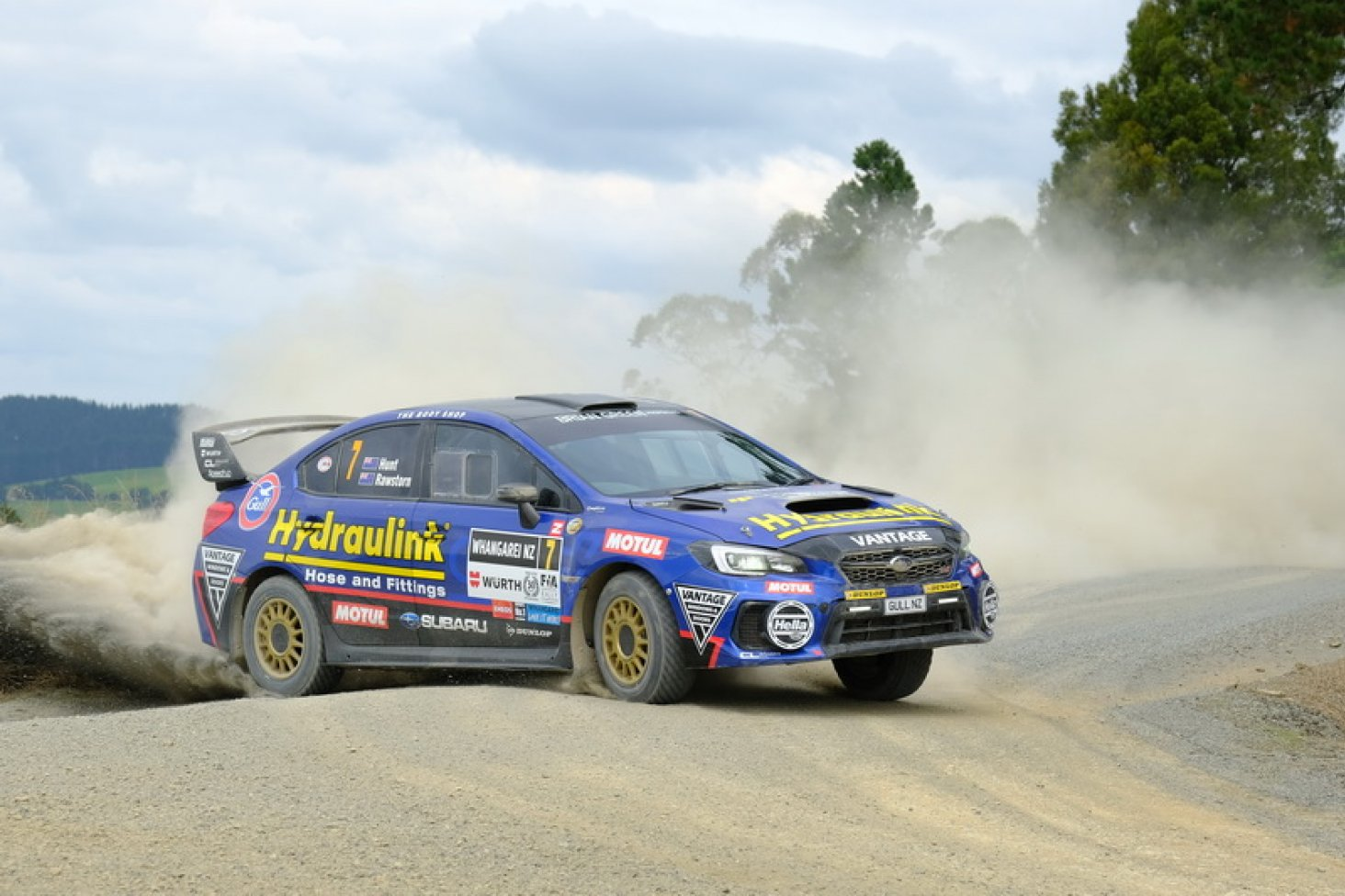 Subaru driver Ben Hunt and co-driver Tony Rawstorn collected their second consecutive runner-up result this season at the ENOS International Rally of Whangarei today. PHOTO: GEOFF RIDDER.