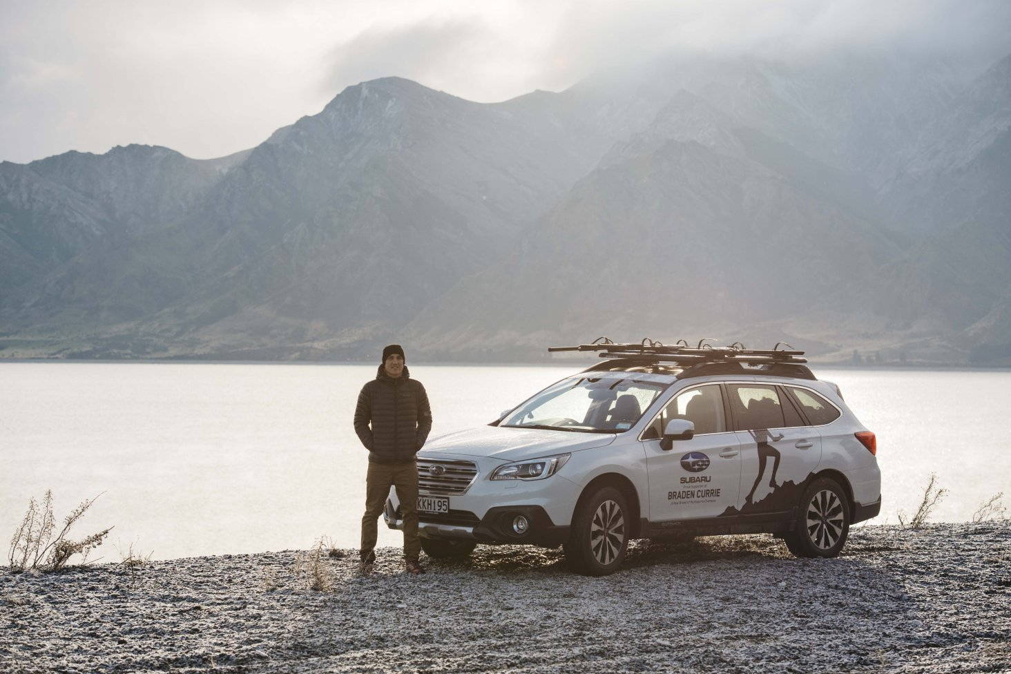 Braden Currie is looking forward to some family adventures in his Subaru Outback when he returns to New Zealand later this month. PHOTO: MICKEY ROSS.